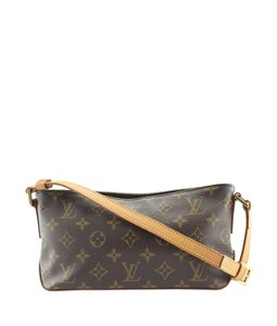 Louis Vuitton Lv Coated Canvas Leather Cross Body Bag