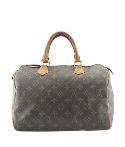 Louis Vuitton Lv Monogram Coated Canvas Satchel in Brown