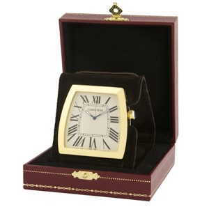 Cartier clock CARTIER LA DONA GOLD DESK/ALARM CLOCK EXTREMELY RARE NEW WITH BOX AND