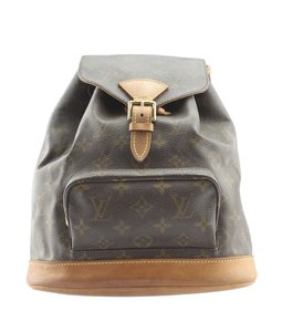 Louis Vuitton Lv Coated Canvas Leather Backpack