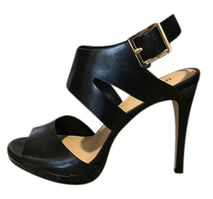 Michael Kors Claudia Leather Black Sandals