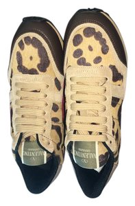 Valentino Sneaker Leopard Miele Burgundy Tan Athletic