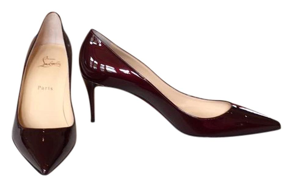 buy online 57262 a5efe Christian Louboutin Burgundy Box New In 39.5 Décolleté 70 Metal Patent  Pointy Toe Pumps Size US 9 Regular (M, B)