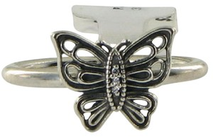PANDORA 190901CZ Ring Vintage Butterfly Cubic Zirconia Sz 7.75 56 Sterling