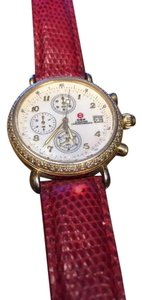 Michele Michele 71-4000/5000 Diamond Pave, Mother of Pearl, Red Band