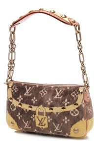 Louis Vuitton Wristlet in Brown, yellow