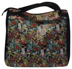 Ed Hardy Tote in black multi