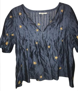 Tularosa Fourth Of July Crop Top blue