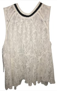 Free People Lace Tunic Sporty Top white
