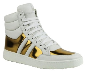 Gucci Women's Sneaker White Gold Athletic