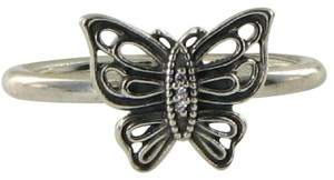 PANDORA 190901CZ Ring Vintage Butterfly Cubic Zirconia Sz 6.75 54 Sterling Sil