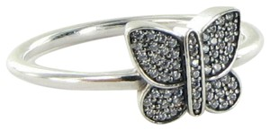 PANDORA 190938CZ Ring Butterfly Pave Cubic Zirconia Sterling Silver Sz 9.25