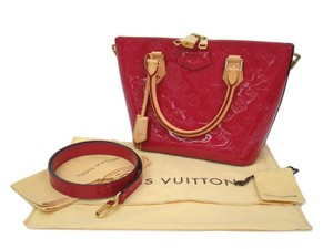 Louis Vuitton Lv Montebello Montebello Vernis Satchel in Cerise red