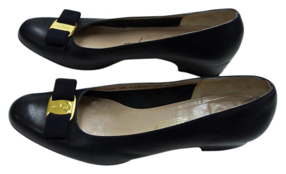 Salvatore Navy Ferragamo Blue Lilaz Bow Navy Salvatore Aaa Pumps 1c4325