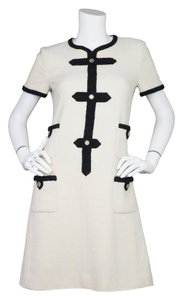 Chanel Wool Shift Short Sleeve Dress