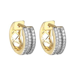 Other Hoop Huggie Earrings Stylish Mens Ladies Simulated Diamonds 14k Finish