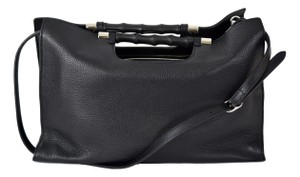 Gucci 370829 Bamboo Leather Tote in Black