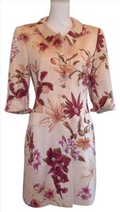 Escada Rich Detail 100% Fully Lined Side Pockets Floral Coat