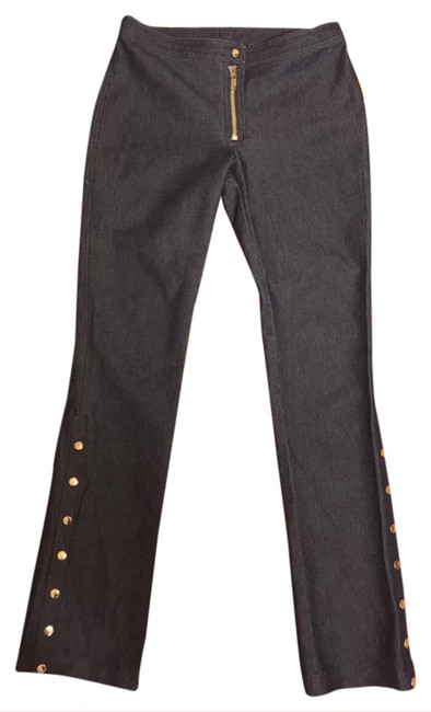 """Item - Dark Wash Blue Denim Rinse Nwot-small-unique Silver Accented Jeans-30"""" Inseam Straight Leg Jeans Size 28 (4, S)"""