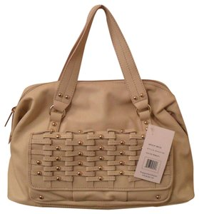 Hype Bryce Leather Satchel in Ivory