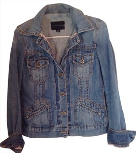 Banana Republic Br Lightly Distressed Great Condition Denim Womens Jean Jacket