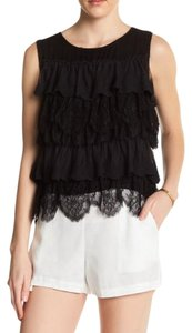 Ella Moss Lace Top Black
