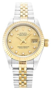 Rolex ROLEX DATEJUST 69173 ORIGINAL DIAMOND DIAL LADIES WATCH