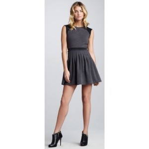 Rebecca Taylor short dress grey black on Tradesy