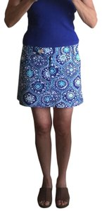 Trina Turk Mini Skirt Blue/White/Turquoise