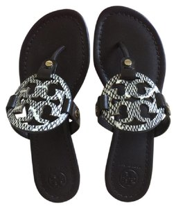 Tory Burch BLACK / NATURAL/ COCONUT Sandals