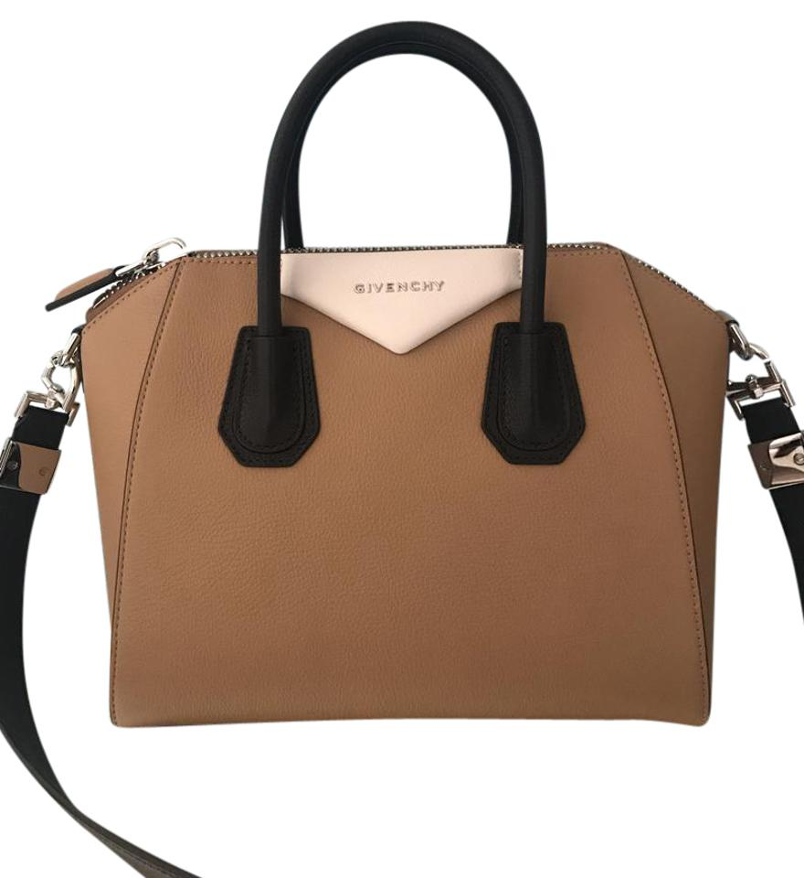 3aa52477cf Givenchy Antigona Small Tri Color Beige Black White Goatskin Satchel ...