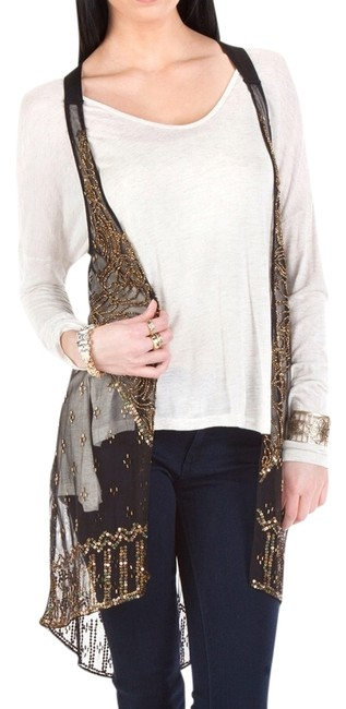Preload https://item4.tradesy.com/images/black-and-gold-handsewn-beaded-vest-size-4-s-2091468-0-0.jpg?width=400&height=650