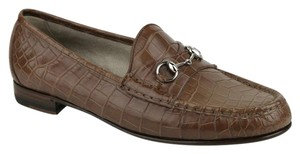 Gucci Crocodile Leather Loafer Brown Flats