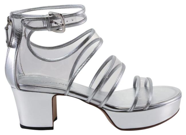 Item - Silver 16s Runway Pvc Clear Strappy Sandals #a58 Platforms Size US 10.5 Regular (M, B)