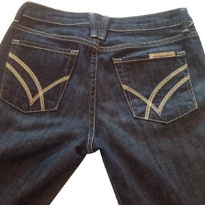 William Rast Made In Usa! Very Good Condition Lots Of Pockets Boot Cut Jeans-Dark Rinse