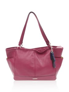 Coach Leather Tote in Red