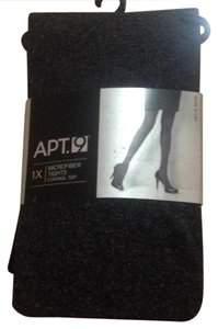 Apt. 9 Apt. 9 Plus Size 1X Opaque Microfiber Control-Top Tights: Charcoal Heather