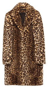 Zara Leopard Fur Coat