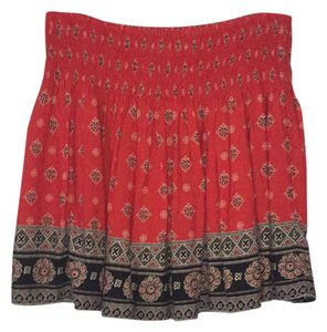 Hollister Mini Skirt red and black print