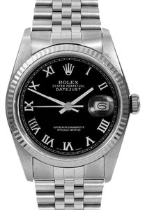 Rolex Rolex Datejust Stainless Steel Black Dial Men's Automatic Watch