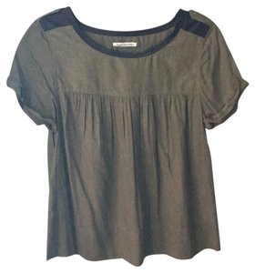 American Eagle Outfitters Top Olive, black