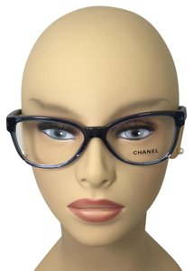 Chanel Square Blue Quilting Chanel Eyeglasses 3325 c.1543 54