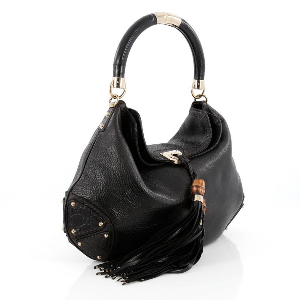 f1dcaaa3c969 Gucci Indy Large Leather Hobo Bag - Tradesy