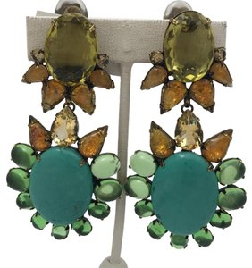 iRADJ Moini NEW SIGNED IRADJ MOINI TURQUOISE CITRINE DROP EARRINGS COLLECTIBLE
