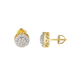 Other Cluster Set Halo Earrings Solitaire Simulated Diamonds Screw On