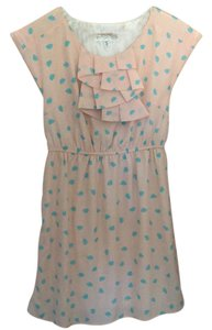 Francesca's short dress Pale Pink/Cerulean Blue on Tradesy