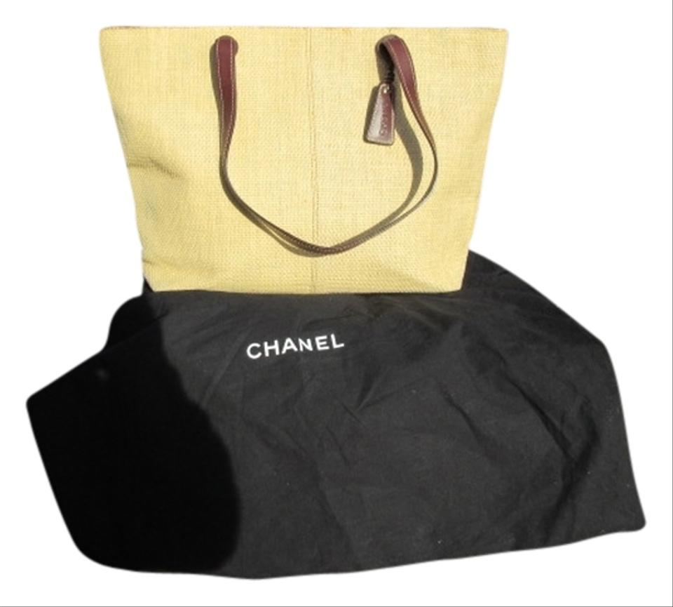 Chanel Amazing Beige Leather and Straw Tote - Tradesy - photo#38