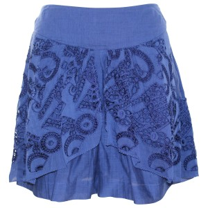 Anthropologie Eyelet Silk Pre-owned Shorts Blue