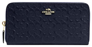 Coach F54805 ACCORDION ZIP WALLET IN SIGNATURE DEBOSSED PATENT LEATHER
