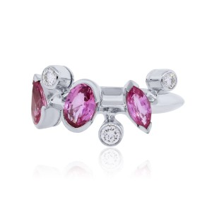 Cartier Cartier Meli Melo Platinum Diamond and Pink Sapphire Ring